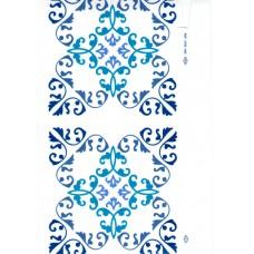 Ref. 78955 - Decalque arabesco azul