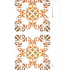 Ref. 78956 - Decalque arabesco marrom