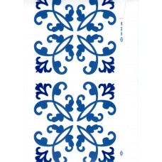 Ref. 78957 - Decalque arabesco azul