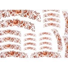 Ref. 79048 - Decalque arabesco floral marrom