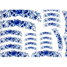 Ref. 79049 - Decalque arabesco floral azul