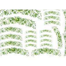 Ref. 79050 - Decalque arabesco floral verde