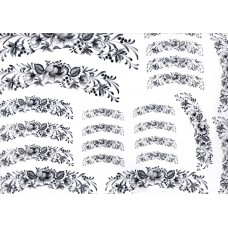 Ref. 79051 - Decalque arabesco floral preto