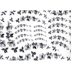 Ref. 79053 - Decalque arabesco floral preto