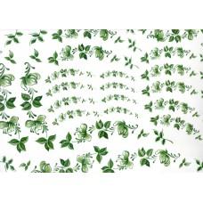 Ref. 79054 - Decalque arabesco floral verde