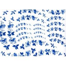 Ref. 79055 - Decalque arabesco floral azul