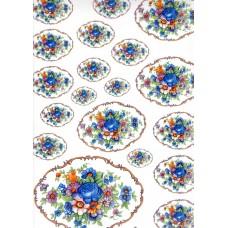 Ref. 79065 - Decalque arabesco floral redondo azul