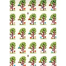 Ref. 79292 - Decalque árvores médias com pássaros