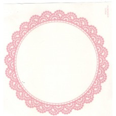 Ref. 79357 - Decalque renda prato sobremesa rosa